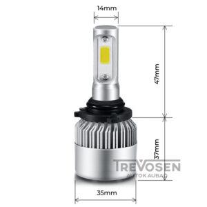 LED pirnid HB4 9006 72W 8000lm 6500K