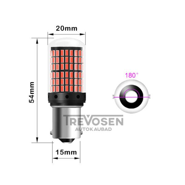 led pirnid p21w punane mõõtmed