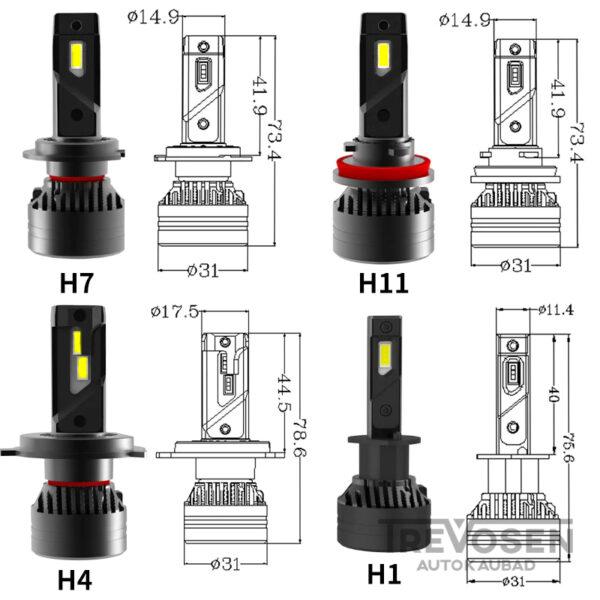 h4 led pirnid 3