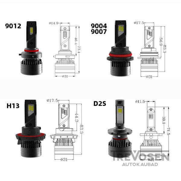 HIR2 LED pirnid 9012 6500K 100W 2tk 3
